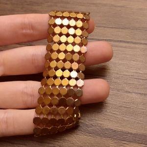 Highly polished Honeycomb link bracelet